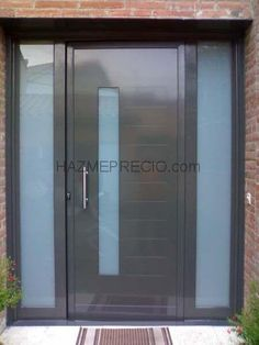 Puerta exterior-metálica y de cristal