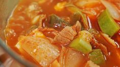 Korean Food, Soups And Stews, Thai Red Curry, Vegetables, Cooking, Ethnic Recipes, Foods, Recipes, Kitchen