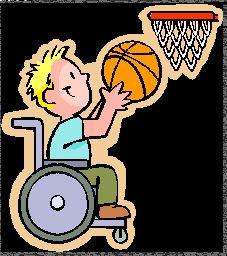 Basketballen met rolstoel