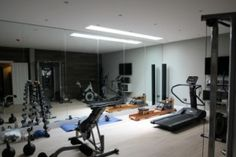 Basement Gym by Light Solutions for Basements.