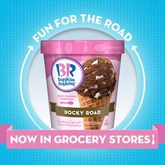 Baskin-Robbins® Ice Cream is Now Available in Grocery Stores! Br Ice Cream, Good Humor Ice Cream, Pralines And Cream, Cold Stone Creamery, Space Food, Baskin Robbins, Ice Cream Flavors, Rocky Road, Iced Cookies