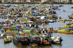 If you ever come to the Southern region of Vietnam, one of those countries in Mekong Delta, don't miss any chance to visit the floating markets. Cai Rang Floating Market is one of the three biggest wholesale floating markets in the Mekong Delta tours, along with Cai Be and Phung Hiep.