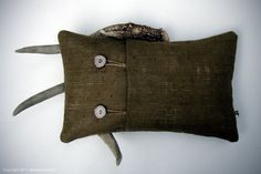 Items similar to Deer Antler Decor PILLOW COVER with Natural Buttons in Wheat Burlap by JillianReneDecor Jute Twine Rustic Woodland Cabin Fall Winter Home on Etsy Log Decor, Woodland Decor, Burlap Pillows, Bolster Pillow, Jute Twine, Winter House, Deer Antlers, Fall Home Decor, Decorative Pillow Covers