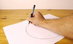 This guy will show you how to draw a perfect circle freehand because it's time to start living your life, dammit