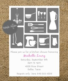 PRINTABLE Stock the Kitchen Housewarming Wedding by NotableAffairs, $12.00