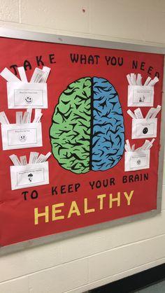 Mental Health Posters, Mental Health Week, Mental Health Activities, Educational Activities, Health Education, Public Health, Family Activities, Mental Health In Schools, Health Bulletin Boards