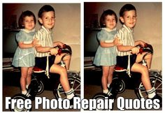 Free Photo Repair Quotes www.fixingphotos.com/ Photo repair and restorations @ reasonable prices. Money back G!
