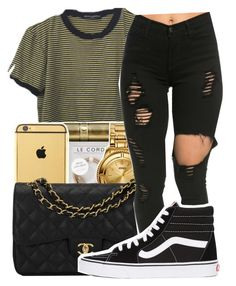 """Ego///Tyler the creator✨"" by maiyaxbabyyy ❤ liked on Polyvore featuring Chanel and Vans"