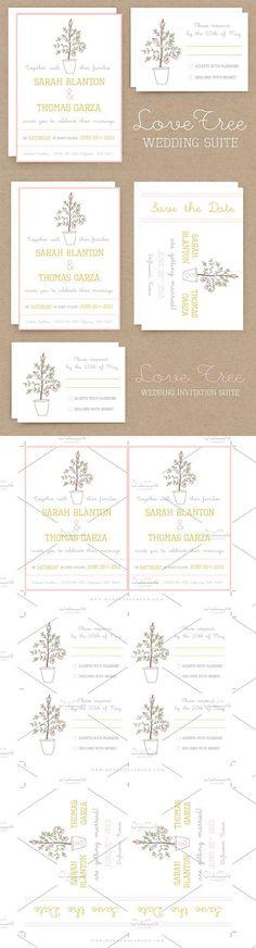 LoveTree Wedding Invitation Suite. Invitation Templates. $10.00