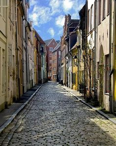 Cobbled street in Lubeck