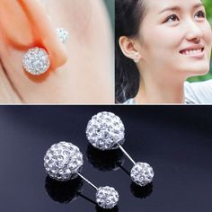 Crystal Zircon Rhinestone Earrings                              …