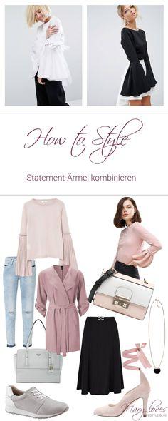 Editor's Picks How to Style - Statement-Ärmel kombinieren - So kombinierst du XXl-Ärmel - Trend-Style Trompeten-Ärmel - Glockenärmel und Statement Sleeves als Modetrend 2017