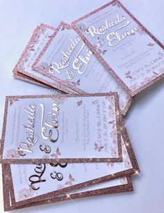 10 units Baby shower Invitations rose gold and silver butterfly invitations is part of Rose gold invitations 10 units of Whimsical butterfl, rose gold and metallic silver doily baby shower invitatio - Butterfly Invitations, Quince Invitations, Laser Cut Wedding Invitations, Gold Wedding Invitations, Sweet 16 Invitations, Birthday Invitations, Wedding Cards, Shabby Chic Invitations, Event Invitations