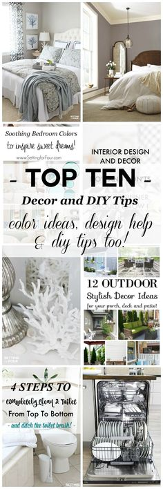 Setting for Four's Top Ten Decorating & DIY Tips of 2016 - See my TOP TEN tips and advice to decorate and DIY your home in style! Including color ideas, design & decor tips and homemaking tips too. Plus see 20 creative bloggers top ten posts from the past year. This is an AMAZING resource to get inspired with fresh new ideas for 2017!
