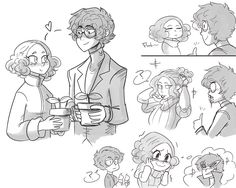 Some destressing doodles of fluff and fluffy haired kids~ Persona Five, Persona 5 Memes, Persona 5 Anime, Persona 5 Joker, Persona Crossover, Haru Okumura, Shin Megami Tensei Persona, Gamers Anime, Video Game Art