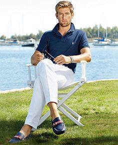 Straight to prep -- white pants // Polo Ralph Lauren