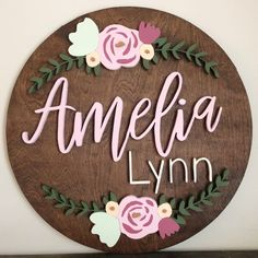 18 Round Wood Name Sign Name Sign Floral Arch Nursery Name Sign Nursery Decor Round Name Sign - Layla Baby Name - Ideas of Layla Baby Name - 18 Round Wood Name Sign Name Sign Floral Arch Nursery Name Sign Nursery Decor Round Name Sign Cute Baby Names, Little Girl Names, Unique Baby Names, Baby Girl Names, Baby Boy Rooms, Baby Room, Wood Nursery, Nursery Signs, Girl Nursery