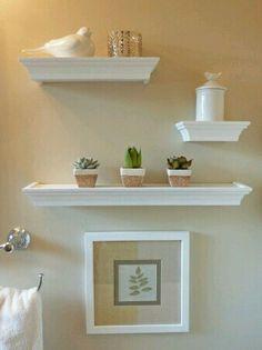 DIY shelves for a bathroom. 4men1lady.com   Bathroom Ideas ...