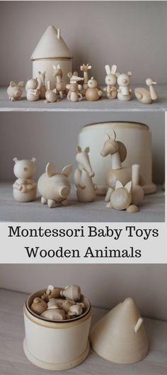 Adorable wooden animals for baby and toddler. Comes with wooden storage house. Adorable wooden a Birthday Gifts For Kids, Baby First Birthday, Christmas Gifts For Kids, Kids Gifts, Rustic Baby Rooms, Toddler And Baby Room, Cloth Diaper Pattern, Montessori Baby Toys, Wooden Baby Toys