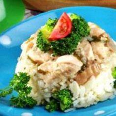 Nasi Tim Kakap Brokoli