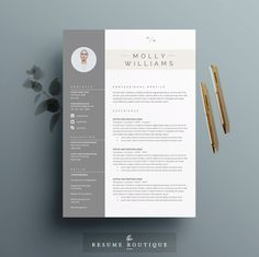 Resume Template 3 Page | CV Template | Misc | Pinterest | Cv template