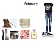 """""""February Style"""" by camillaknudsen on Polyvore featuring Current/Elliott, Vans, NARS Cosmetics, Burberry, Chanel and Christian Louboutin"""