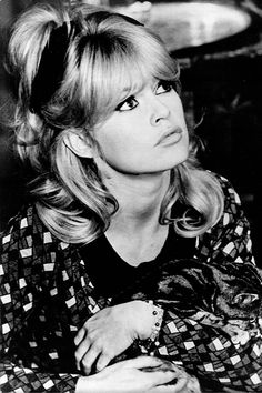 Bardot and her hair.