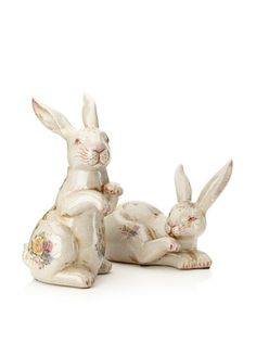 75% OFF Set of 2 Priscyla Bunnies