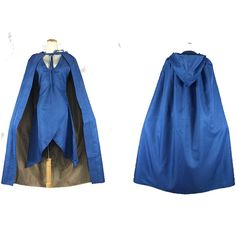 Cuterole Game of Thrones Daenerys Targaryen Cosplay Costume Sex Blue Dress custom ** See this great product.