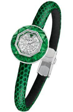 ** Graff diamond and emerald Baby Graff watch