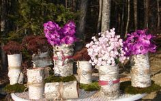 birch branch table arrangements | Rustic Wedding Centerpieces That You Can Make | Rustic Crafts & Chic ...