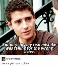 """""""Mais peut-être que ma vraie erreur c'était de tomber amoureux de la mauvaise sœur"""" """"Chéri, tu n'as pas idée"""""""