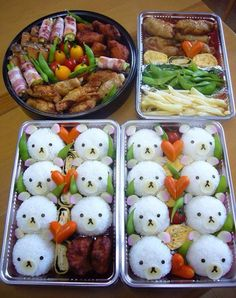 Cute bento. should do something like this next pot luck.