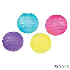 Pool party, beach bash or backyard luau – these lanterns are a must-have! Hang these round paper lanterns from ceilings, trees or cabanas. Thanks to ...