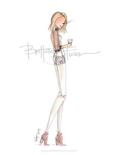 bomber jacket | shearling | Anthropologie | Free People | fashion illustration | Brittany Fuson