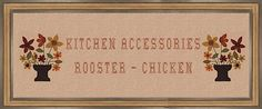 homemade+chicken+and+rooster+kitchen+curtains | Country Kitchen Accessories - Rooster/Chicken Themed.