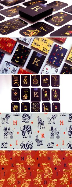 Kindom Playing Cards packaging by Anna Bron