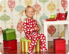 Classic Footed Pajamas: Blanket Sleeper Pattern, Footed Pajamas Pattern, Christmas Pajamas