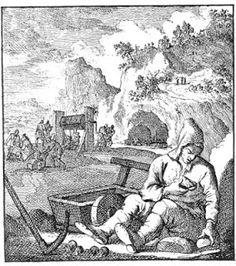 Mineur. Héraldie: Jan Luyken : Le livre des métiers (1694)
