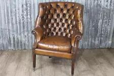 Armchairs Leather Reproduction Victorian Antique Furniture