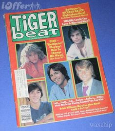 Tiger beat magazine, seriously who remembers begging mom to buy this and tearing out the posters, yep good times