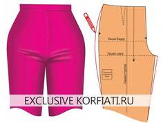 Retouches de patron de pantalon - Устранение дефектов брюк