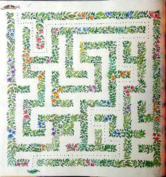Labirinto do Jardim Secreto. Décimo colorido. #jardimsecreto #folhas #labirinto