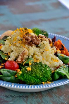 autumn-millet-with-lemon-tahini-dressing-recipe