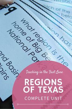 Regions of Texas Bundle with Lesson Plans Daily Lesson Plan, Lesson Plans, Back To School Activities, School Ideas, Texas Teacher, 5th Grade Social Studies, Learning Stations, Back To School Organization, Texas History