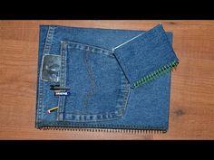 Capa de caderno jeans