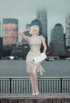 Rachel Ann Jensen ♥: Champagne Fringe || 20's Flapper Inspired with Unique Vintage