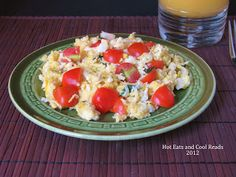 Hot Eats and Cool Reads: Tomato and Basil Scrambled Eggs Recipe