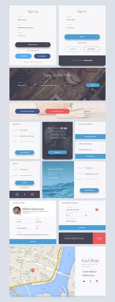 Kauf UI Web Kit on Behance