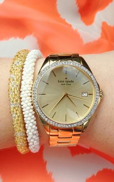 thatclassicprep:  Newest watch! Kate Spade is the best.   Lilly and Laura!
